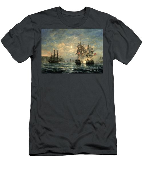 Engagement Between The 'bonhomme Richard' And The ' Serapis' Off Flamborough Head Men's T-Shirt (Athletic Fit)