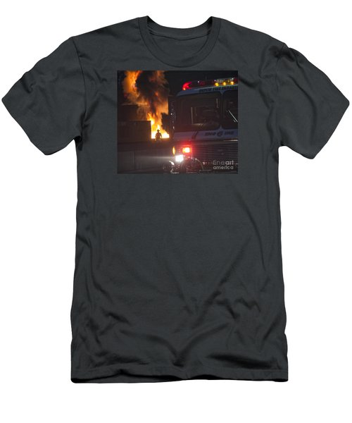 Men's T-Shirt (Slim Fit) featuring the photograph Engine 6 by Jim Lepard