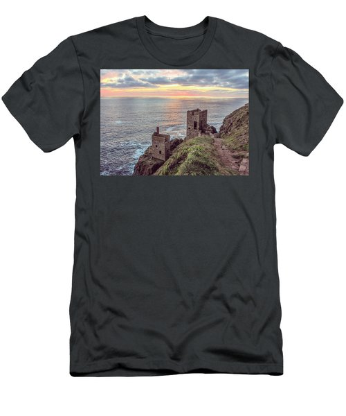 Engine Houses At Crown Mines Men's T-Shirt (Athletic Fit)