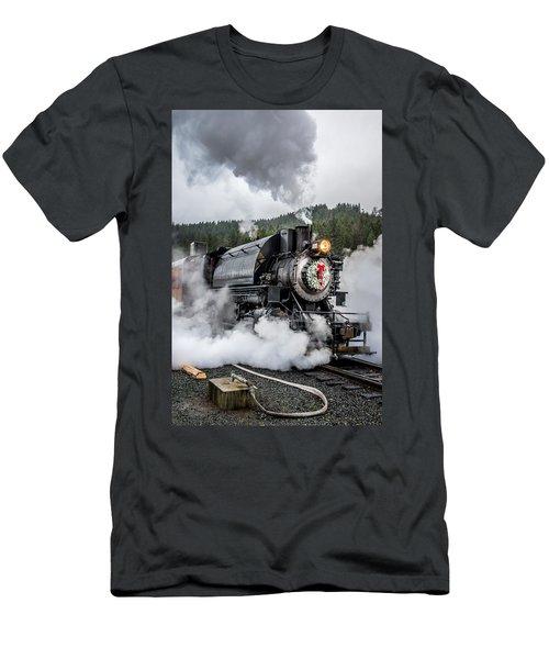 Engine No. 17 Elbe Christmas Train Men's T-Shirt (Athletic Fit)