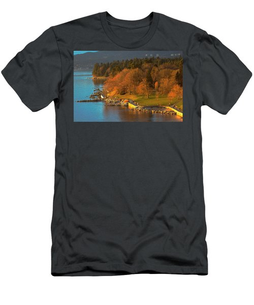 English Bay At Golden Hr. Men's T-Shirt (Athletic Fit)