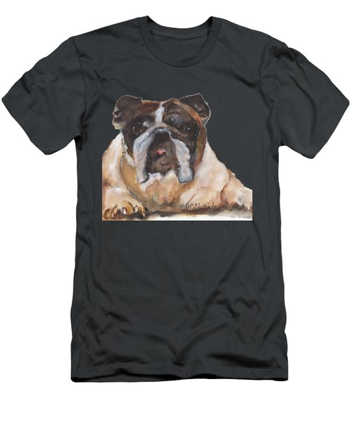 English Bulldog By Kmcelwaine Men's T-Shirt (Athletic Fit)