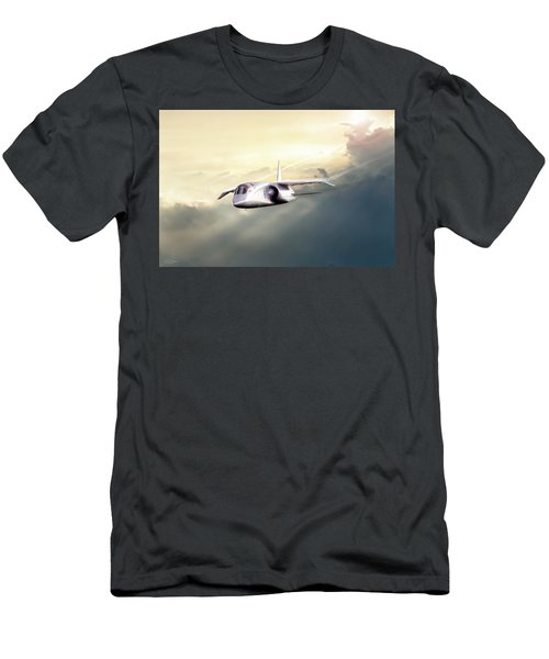 Men's T-Shirt (Slim Fit) featuring the digital art English Enigma by Peter Chilelli
