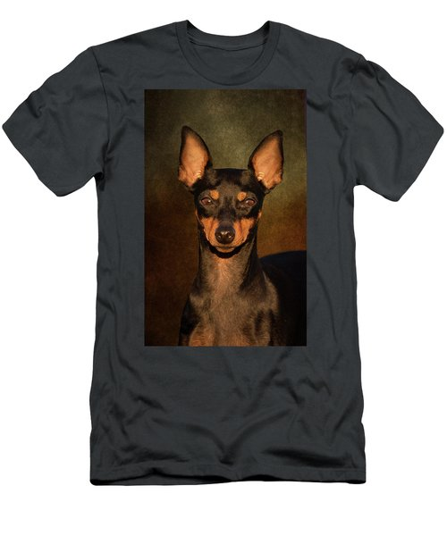English Toy Terrier Men's T-Shirt (Athletic Fit)