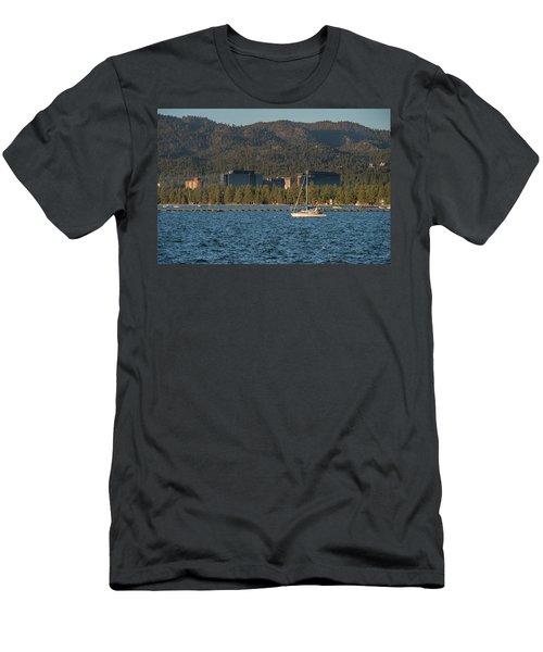 Enjoying The Lake Men's T-Shirt (Athletic Fit)