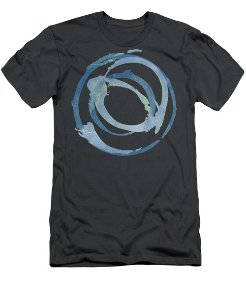 Men's T-Shirt (Slim Fit) featuring the painting Enso T Multi by Julie Niemela