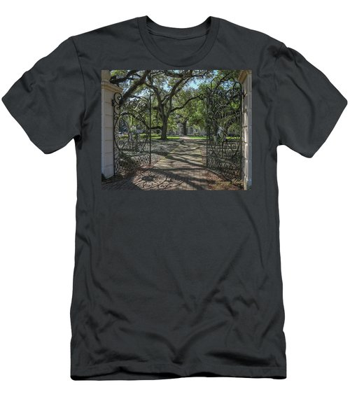 Entrance Gate To Ul Alum House Men's T-Shirt (Slim Fit) by Gregory Daley  PPSA