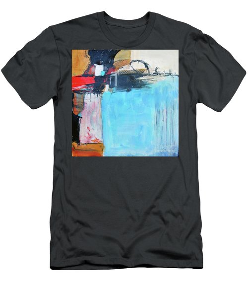 Men's T-Shirt (Slim Fit) featuring the painting Equalibrium by Ron Stephens