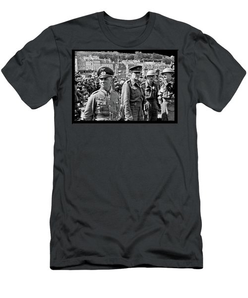 Erwin Rommel And Captured British Soldiers Tobruck Libya 1942 Color Added 2016  Men's T-Shirt (Athletic Fit)
