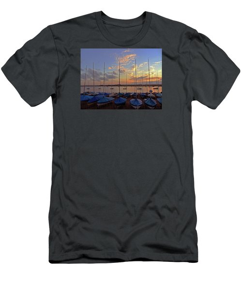 Men's T-Shirt (Slim Fit) featuring the photograph Estuary Evening by Anne Kotan