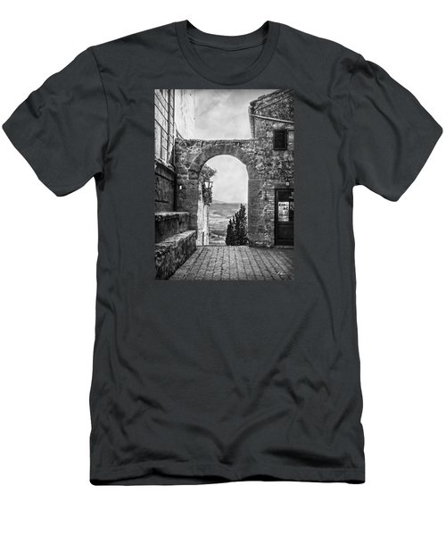 Etruscan Arch B/w Men's T-Shirt (Slim Fit) by Hanny Heim