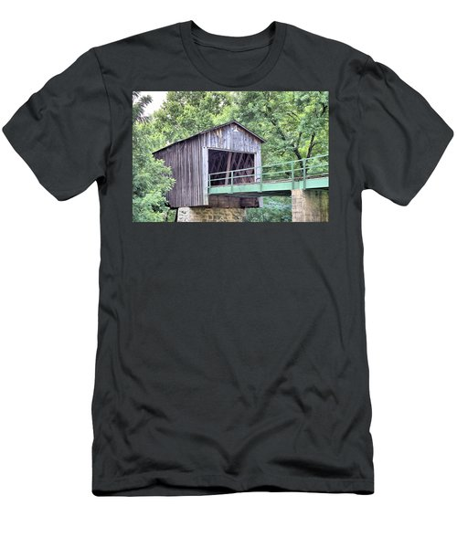 Euharlee Creek Covered Bridge Men's T-Shirt (Athletic Fit)