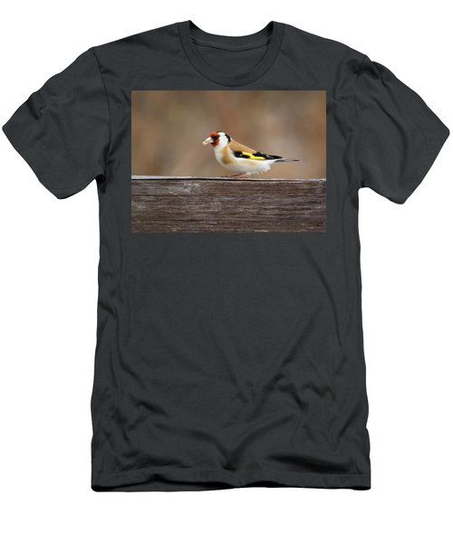 Men's T-Shirt (Athletic Fit) featuring the photograph European Goldfinch In Kenosha by Ricky L Jones