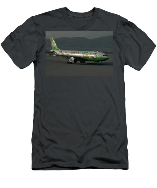 Eva Air Airbus A330-203 Men's T-Shirt (Slim Fit) by Tim Beach