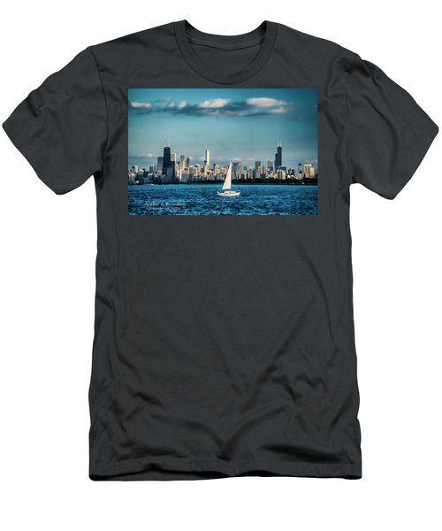Evan's Chicago Skyline  Men's T-Shirt (Athletic Fit)