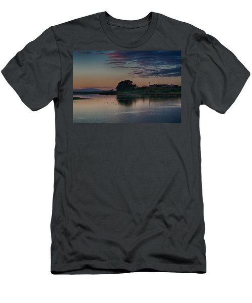 Evening At Moss Landing Men's T-Shirt (Athletic Fit)