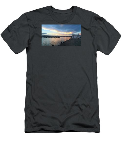 Men's T-Shirt (Athletic Fit) featuring the photograph Evening At The Bay by Nareeta Martin
