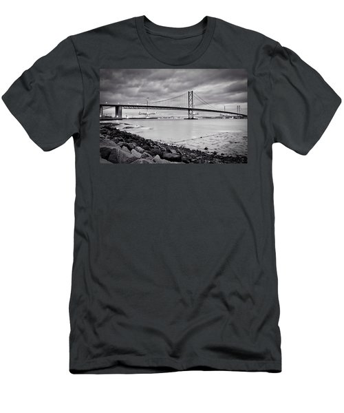 Men's T-Shirt (Slim Fit) featuring the photograph Evening At The Forth Road Bridges by RKAB Works