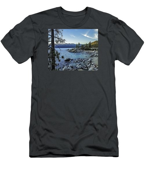 Evening At The Harbor-edit Men's T-Shirt (Slim Fit) by Nancy Marie Ricketts