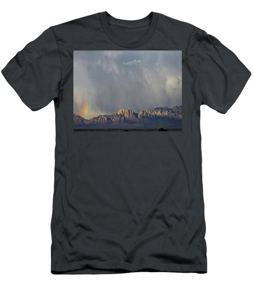 Men's T-Shirt (Slim Fit) featuring the photograph Evening Drama Over The Organs by Kurt Van Wagner
