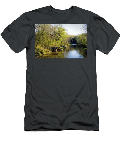 Evening Falls On Cedar Creek Men's T-Shirt (Athletic Fit)