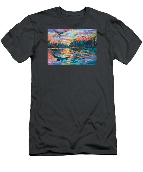 Men's T-Shirt (Slim Fit) featuring the painting Evening Flight by Kendall Kessler