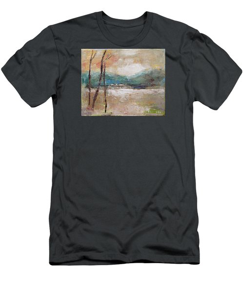 Evening In Fall Men's T-Shirt (Slim Fit) by Becky Kim