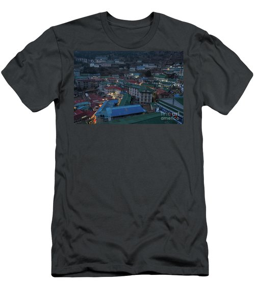 Men's T-Shirt (Slim Fit) featuring the photograph Evening In Namche Nepal by Mike Reid