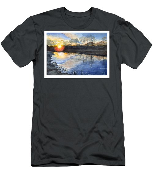 Men's T-Shirt (Slim Fit) featuring the painting Evening by Katherine Miller