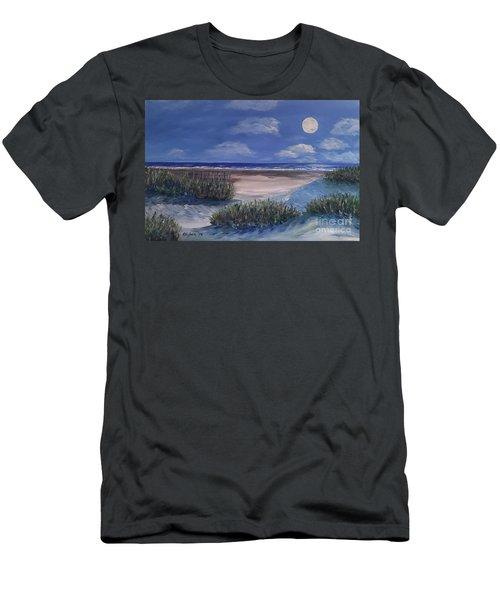Evening Moon Men's T-Shirt (Athletic Fit)