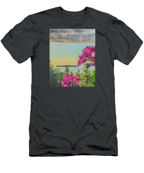 Islands Of The Salish Sea Men's T-Shirt (Slim Fit) by William Wyckoff