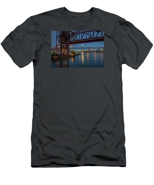 Men's T-Shirt (Slim Fit) featuring the photograph Evening On The Cuyahoga River by Brent Durken