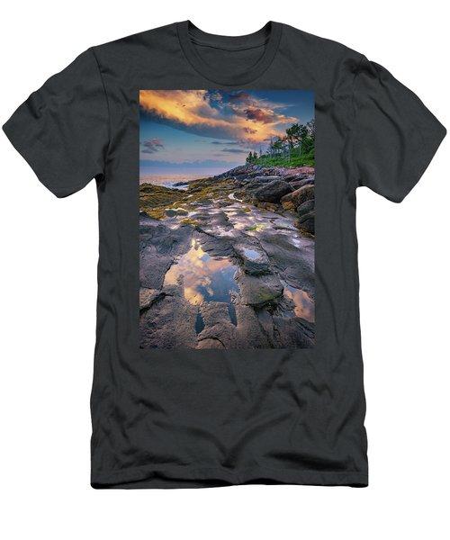 Evening Reflection, Bristol, Maine Men's T-Shirt (Athletic Fit)