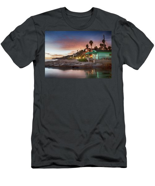 Evening Reflections, Crystal Cove Men's T-Shirt (Athletic Fit)