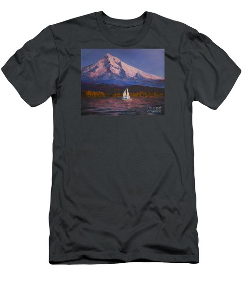 Men's T-Shirt (Slim Fit) featuring the painting Evening Sail by Jeanette French