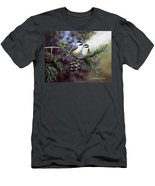 Evergreen Chickadees Men's T-Shirt (Athletic Fit)