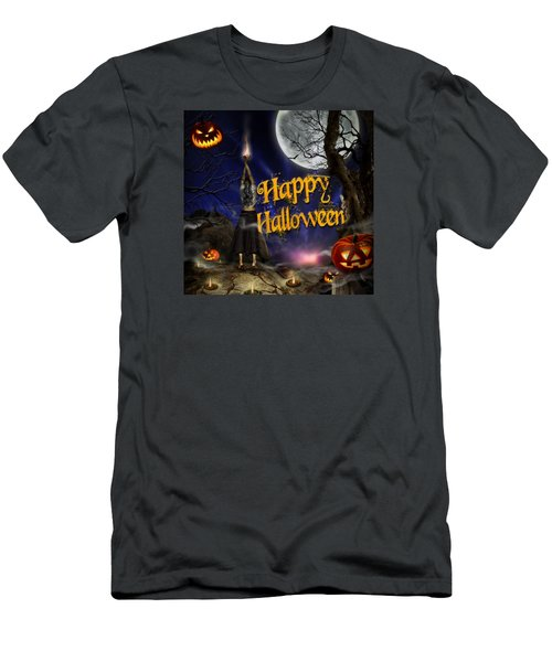Evocation In Halloween Night Greeting Card Men's T-Shirt (Athletic Fit)