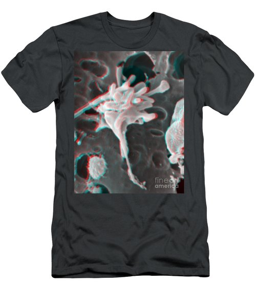 Excited Human Thrombocyte Platelet Men's T-Shirt (Athletic Fit)