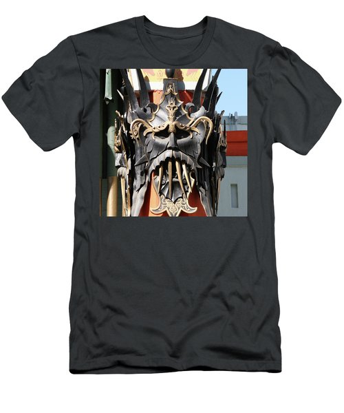 Exotic Chinese Mask Men's T-Shirt (Athletic Fit)