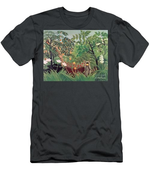 Exotic Landscape Men's T-Shirt (Athletic Fit)