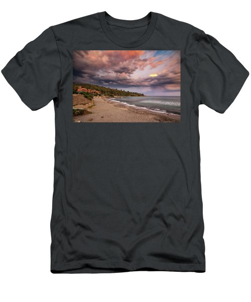 Explosion Of Colored Clouds Men's T-Shirt (Athletic Fit)