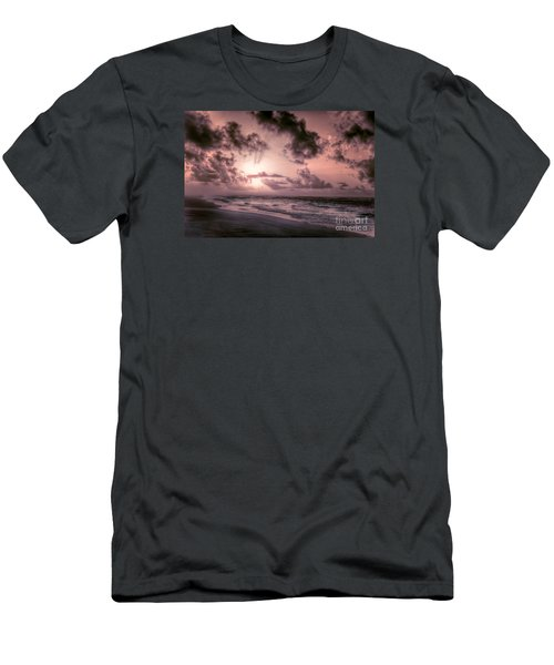 Explosive Sunrise On Ocracoke Outer Banks Men's T-Shirt (Slim Fit) by Dan Carmichael