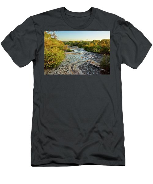 Men's T-Shirt (Athletic Fit) featuring the photograph Exposed Sandstone In North Head by Miroslava Jurcik