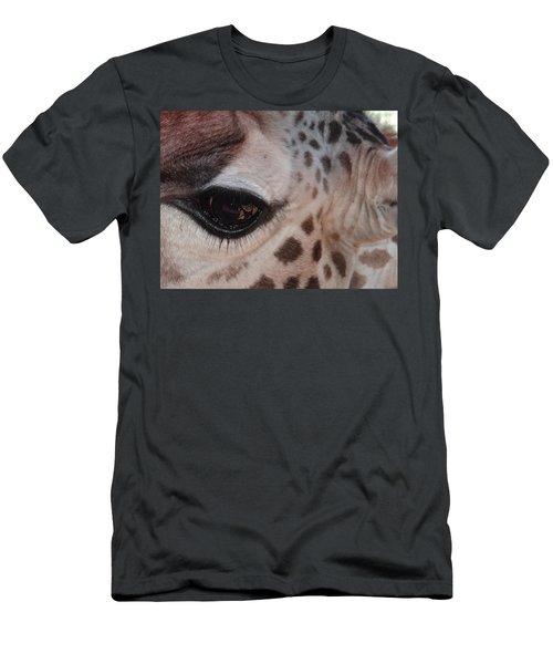 Eye Of A Giraffe Men's T-Shirt (Athletic Fit)