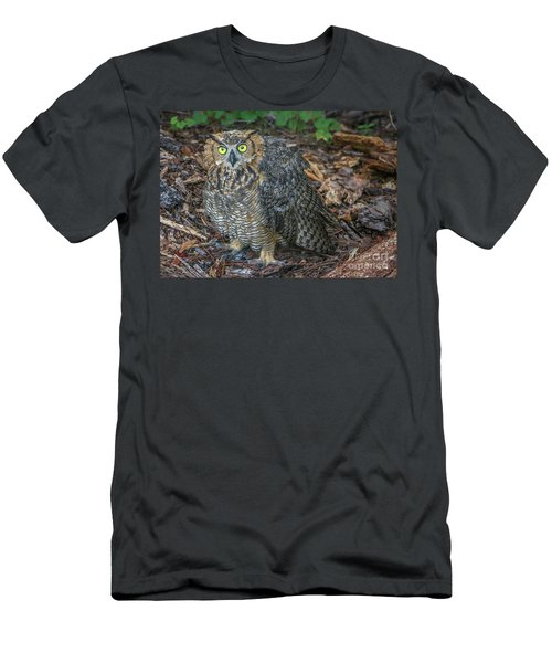 Eye To Eye With Owl Men's T-Shirt (Athletic Fit)