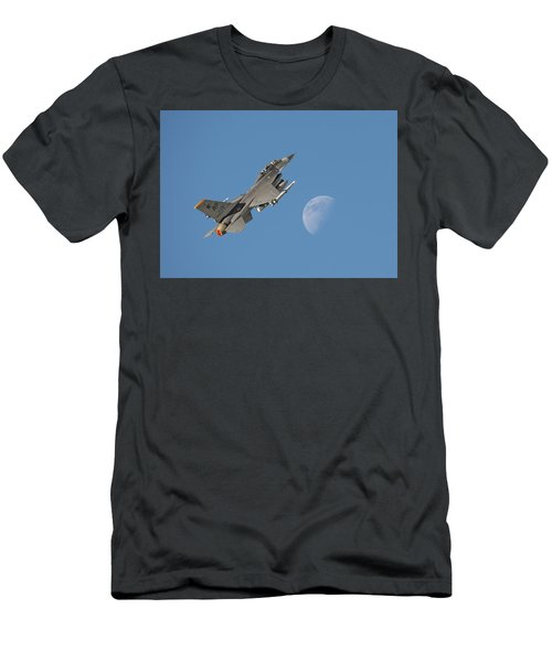 Men's T-Shirt (Slim Fit) featuring the photograph F16 - Aiming High by Pat Speirs
