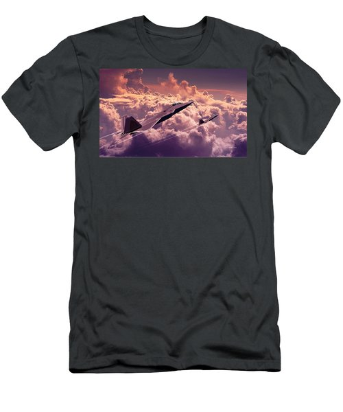 F22 Raptor Aviation Art Men's T-Shirt (Athletic Fit)