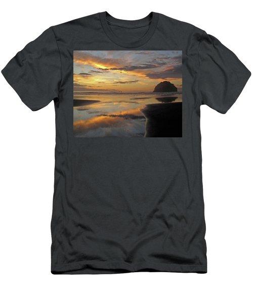 Men's T-Shirt (Slim Fit) featuring the photograph Face Rock Beauty by Suzy Piatt