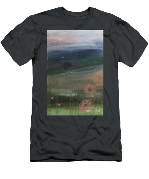 Men's T-Shirt (Athletic Fit) featuring the painting Faded Days Gone By by Robin Maria Pedrero