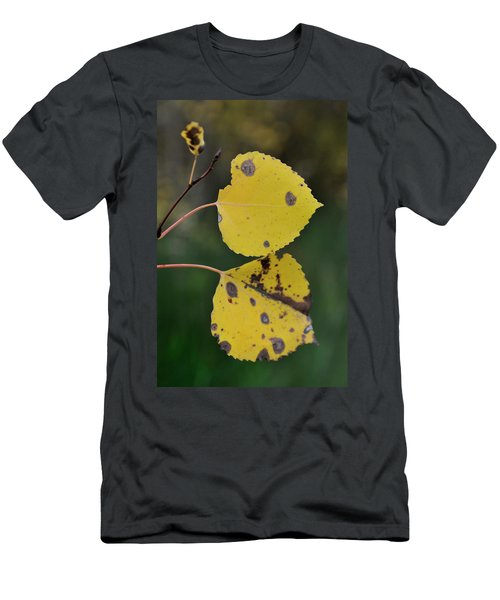 Men's T-Shirt (Athletic Fit) featuring the photograph Fading Aspen I by Ron Cline